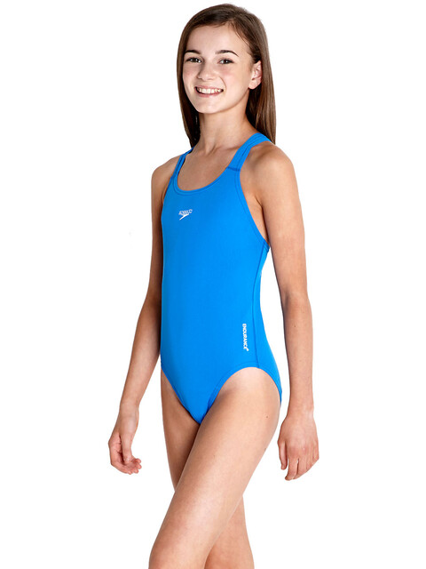 speedo Essential Endurance+ Medalist Swimsuit Girls, neon blue